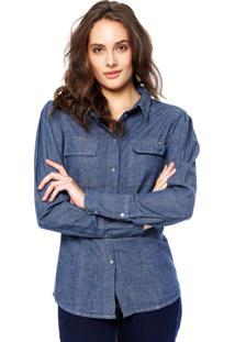 Camisa Jeans Sawary Lisa Azul