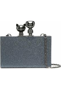 Karl Lagerfeld Bolsa K/Ikonik Metálica - Azul