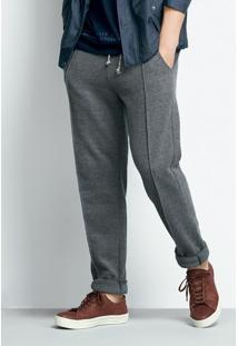 Calça Masculina Em Moletom Piquê De Algodão