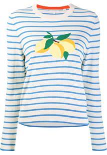 Chinti & Parker Suéter Listrado Com Limões - Neutro