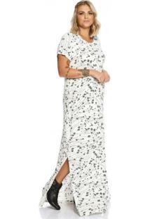 Vestido Longo Feminino Secret Glam Bege