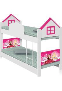 Beliche Infantil Casa Princesa Com Colchões Casah