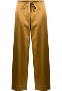 Gilda & Pearl Pijama Com Detalhe De Laço - Dourado