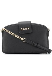 Dkny Logo Crossbody Bag - Preto