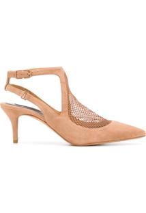 98f062ec19de Farfetch. Sapato Com Salto Feminino Couro Camurça Bico Fino Rcd Kj Alexander  Wang ...