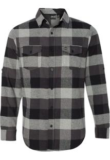 Camisa Blanks Co Flanela Xadrez 8210 Black - Masculino