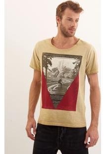 Camiseta John John Rx Electric Skate Malha Bege Masculina Ts Rx Electric Skate-Bege Medio-P