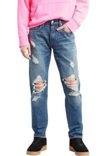 Calça Jeans Levis 502 Regular Taper Masculina - Masculino-Azul