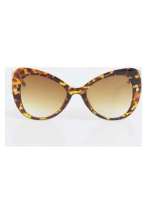 Óculos De Sol Feminino Gateado Estampado Marisa