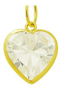 Pingente Pedra Coração Ouro 18K Vj1569