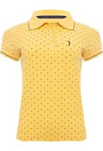 Camisa Polo Aleatory Mini Print Super Feminina - Feminino