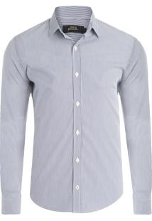 Camisa Masculina Unb Listras - Azul