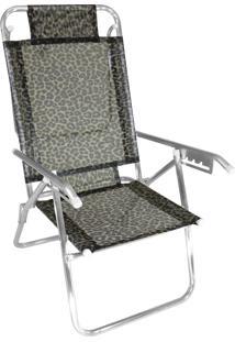 Cadeira Praia Reclinável Zaka Infinita Up Alumínio Até 100 Kg Onça