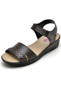 Sandalia Pizaflex Feminina Conforto Top Franca Shoes Cafe