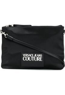 Versace Jeans Couture Bolsa Transversal Com Patch De Logo - Preto