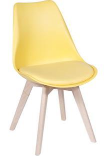 Cadeira Modesti- Amarela & Bege Claro- 83X49X42,5Cm