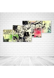 Quadro Decorativo - Urban Arts.Jpeg - Composto De 5 Quadros