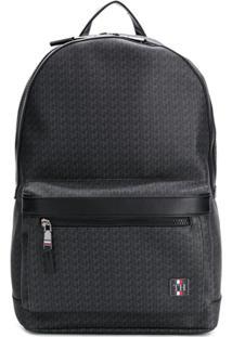 Tommy Hilfiger Logo Embellished Backpack - Preto