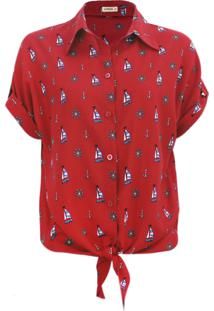Camisa Intens Manga Curta Viscose Vermelho