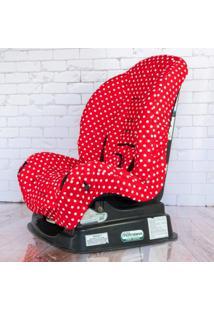 Capa Para Cadeira - Vermelho Bola Branca