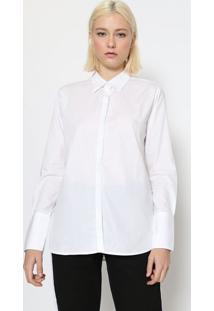Camisa Lisa Com Fendas - Brancacalvin Klein