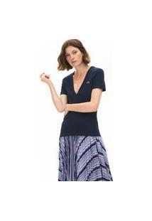 Camiseta Lacoste Slim Fit Azul