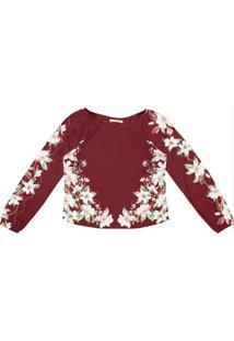 Blusa Feminina Estampa Flores Endless Vermelho