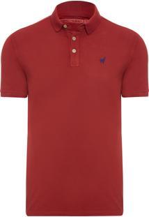 Polo Masculina Lhama - Vermelho