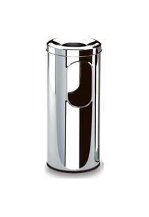 Cinzeiro/Papeleiro Inox - Decorline Lixeira Ø 20 X 59 Cm - Brinox