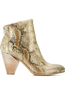 Strategia Ankle Boot Com Efeito De Pele De Cobra - Neutro