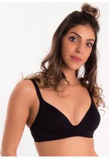 Sutiã Com Bojo Estruturado Sem Aro Duloren - Feminino-Preto