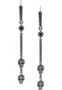 Alexander Mcqueen Chain Skull Earrings - Prateado