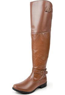 Bota Over The Knee Luma Ventura Linha Standard 003 Marrom Claro