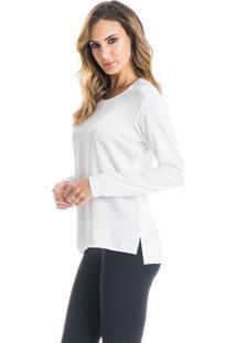 Camiseta Jeane Mg Longa Off White/G
