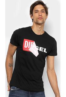 Camiseta Diesel Estampada Masculina - Masculino