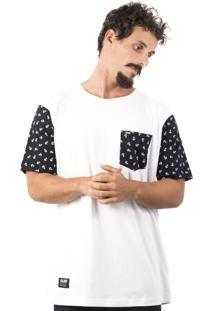Camiseta Alfa Sleeve Âncora Branca