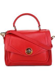 Bolsa Couro Shoestock Mini Satchel Feminina - Feminino-Vermelho