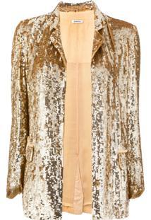 P.A.R.O.S.H. Blazer Com Paetês - Dourado