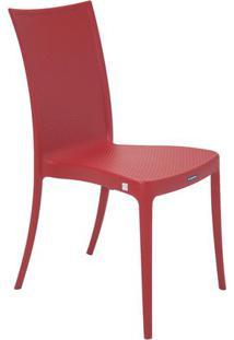 Cadeira Laura Ratan- Vermelha- 87,5X45X55Cm- Tratramontina