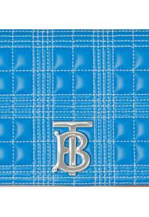 Burberry Bolsa Transversal Matelassê Lola Pequena - Azul