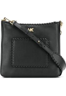 Michael Michael Kors Messenger Bag 'Gloria' De Couro - Preto