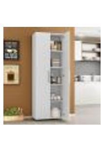 Armário Para Cozinha Multiuso Curitiba Com 2 Portas E 5 Nichos - Branco