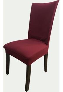 Capa Para Cadeira De Malha Kit 6 Unidades Vinho S.T