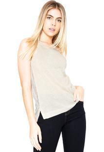 Regata Calvin Klein Jeans Tricot Lurex Bege/Dourado