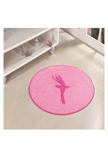 Tapete Formato Feltro Antiderrapante Bailarina Rosa