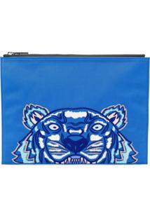 Kenzo Clutch 'Tiger A4' - Azul