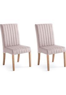 Conjunto Com 2 Cadeiras De Jantar Bali I Cinza E Castanho