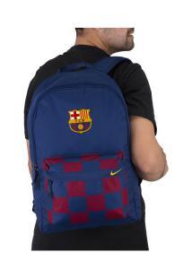 Mochila Barcelona Stadium Nike - 25 Litros - Azul Esc/Vermelho