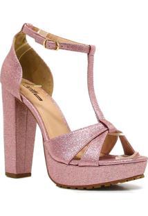 Sandália Zariff Shoes Salto Numeração Grande Rosa