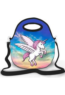 Bolsa Térmica Shop House Wing Unicorn Azul